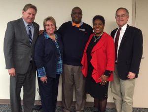 Rep. Bill Beck, D-Nashville, Metro Councilmember Nancy VanReece, McMurry, Sen. Brenda Gilmore, D-Nashville and U.S. Rep. Jim Cooper. (Photo courtesy of Nancy VanReece)