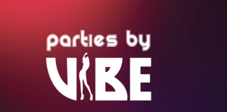 A logo for Vibe featured on a website for swingers.