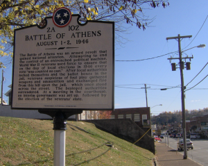 Battle of Athens historical marker (Photo: Tennessee Historical Commission)