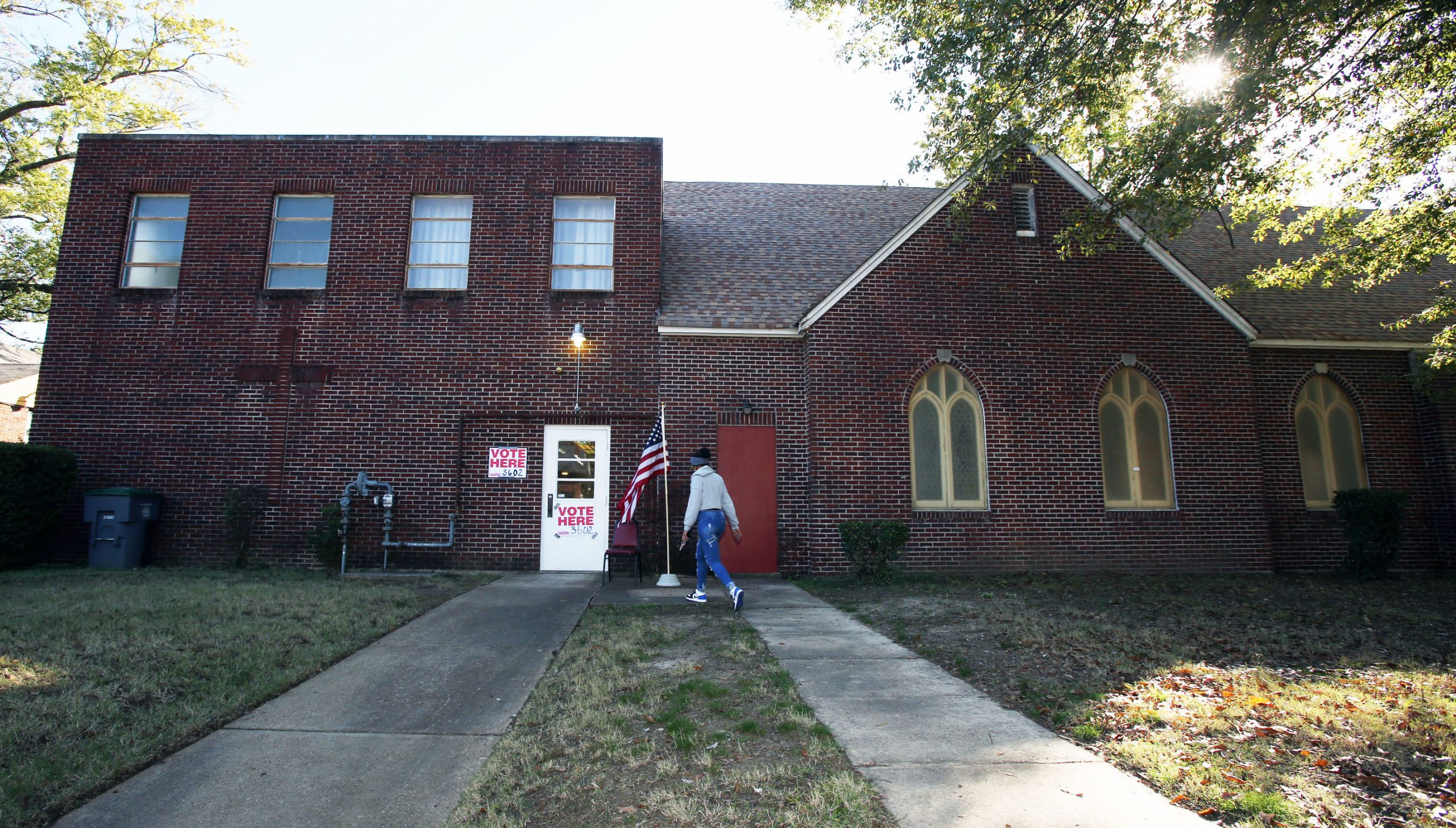 Memphis voters came out to vote at Peace Lutheran Church-ELCA in north Memphis for the 2020 election on Nov. 3, 2020. (Photo by Karen Pulfer Focht)