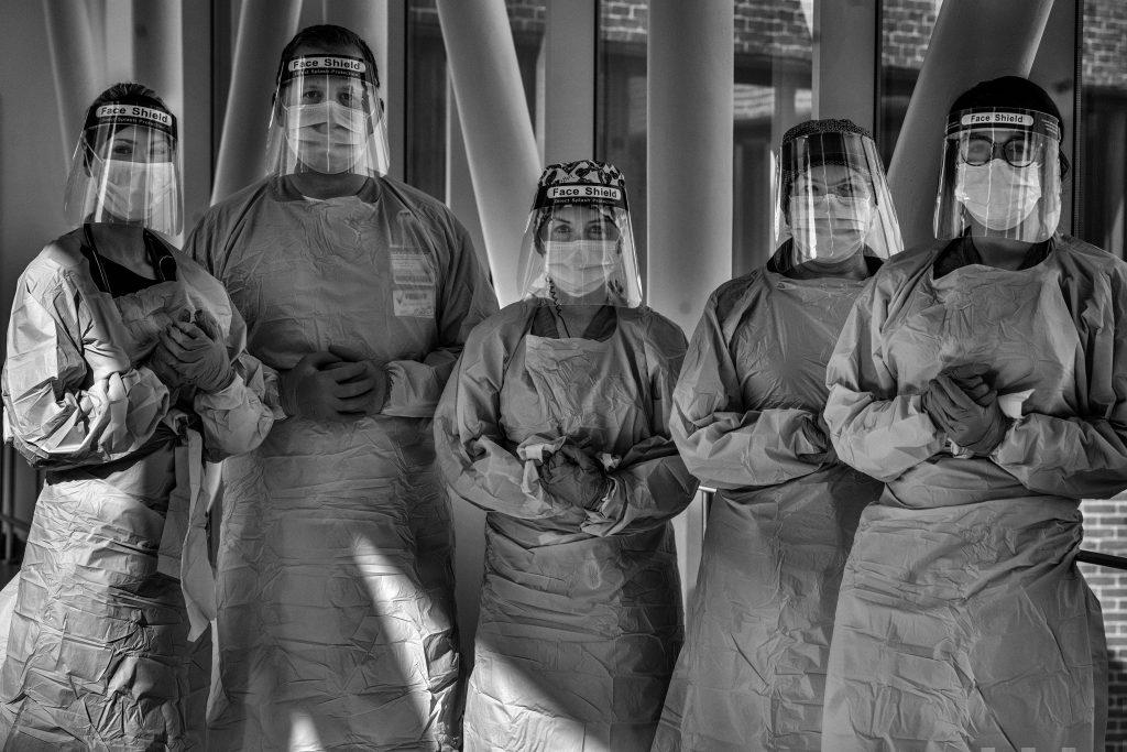 COVID-19 Nurses at Vanderbilt University Medical Center in protective gear. (Photo: John Partipilo)
