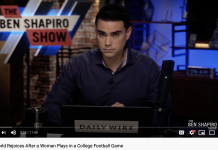 On Tuesday, Ben Shapiro critiqued Vanderbilt University football and soccer player Sarah Fuller's kicking skills. (Photo: YouTube)