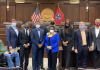 Members of the House Democratic Caucus following elections Monday. (Photo: Rep. London Lamar)