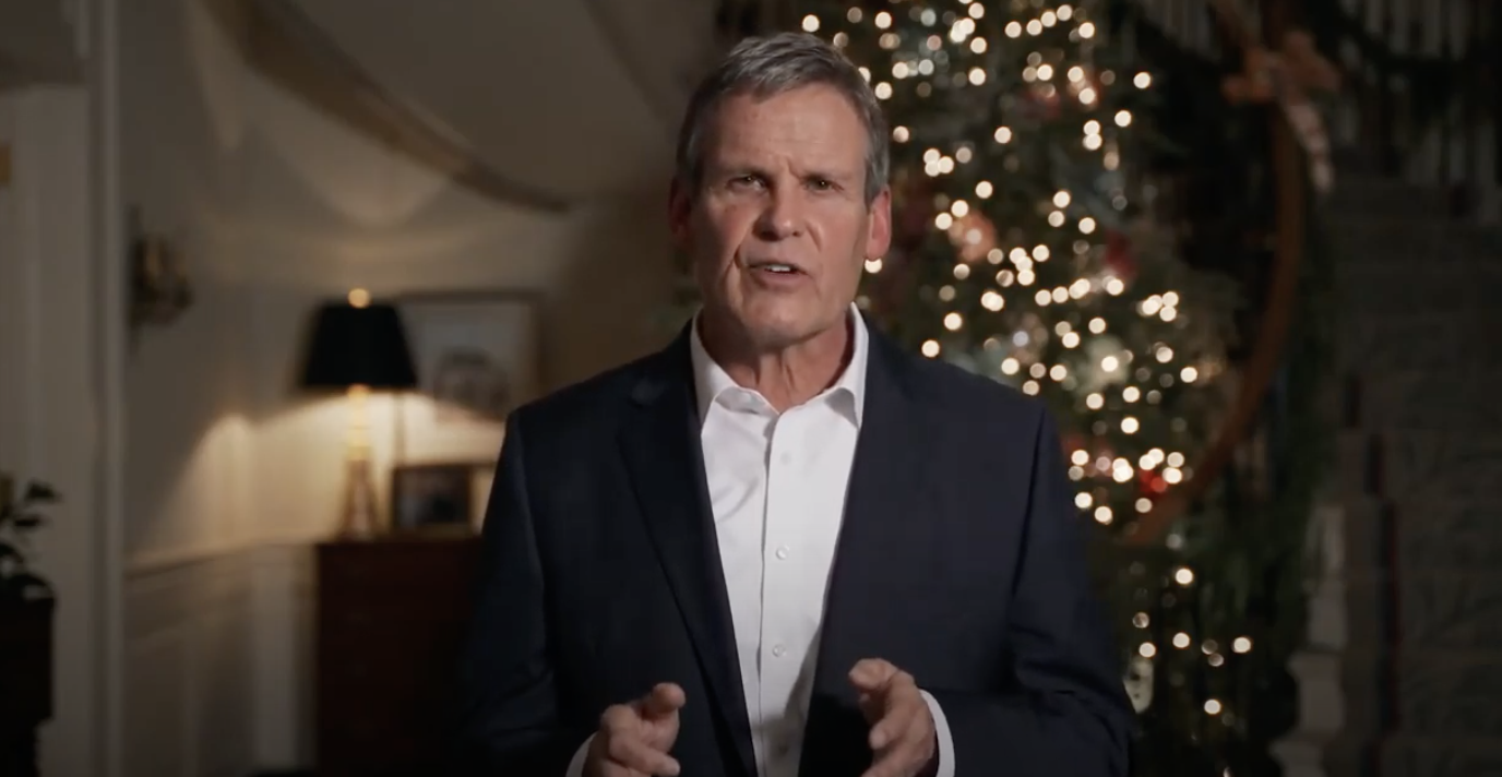 Gov. Bill Lee addresses Tennesseans from the Governor's Residence. Lee issued an executive order limiting public gatherings to no more than 10 people. (Photo: YouTube)