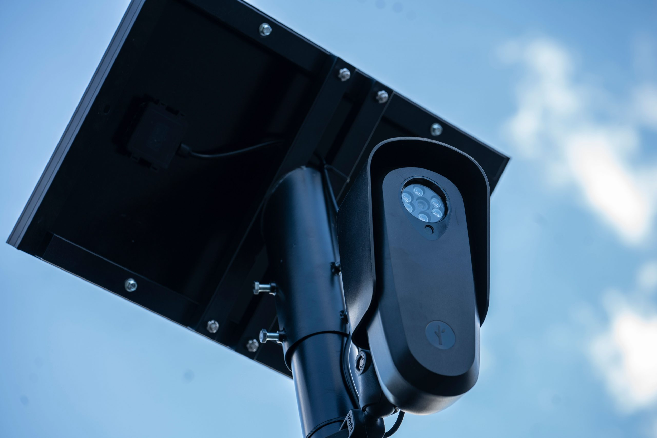 One of the security cameras that now protect the Haynes Park neighborhood.(Photo: John Partipilo)