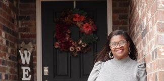 Deemean Wilson-Henderson at her Memphis home on Jan. 31, 2021. Dee lost her job as a manager at the Ronald McDonald House in September after 8 years there. The data shows that African Americans are being disproportionately hit by unemployment in Tennessee. (Photo by Karen Pulfer Focht ©)