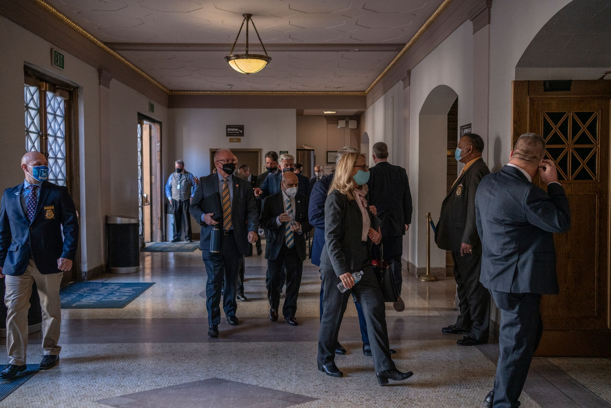 A group of legislators file into the War Memorial Building for Gov. Bill Lee's address at the start of a special session. (Photo: John Partipilo)