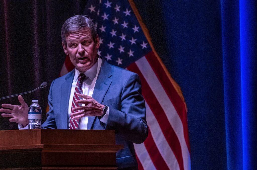 Gov. Bill Lee speaking before the Tennessee General Assembly in January. (Photo: John Partipilo)