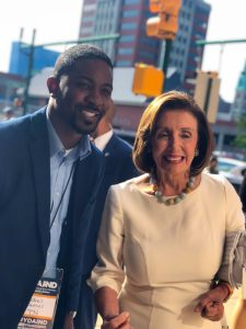 Tennessee Democratic Party Chair Hendrell Remus with Speaker of the U.S. House of Representatives Nancy Pelosi. (Photo: submitted)