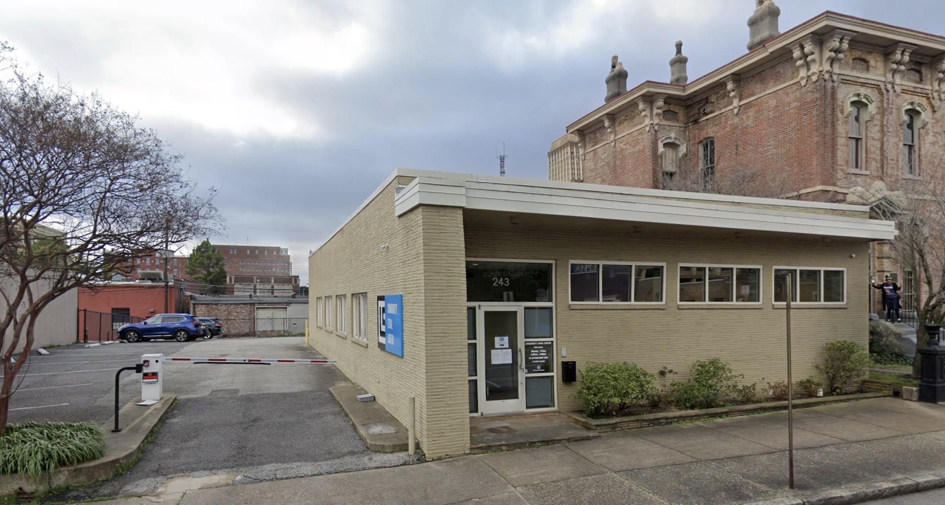 Exterior of Community Legal Center, Memphis. (Photo: Google)