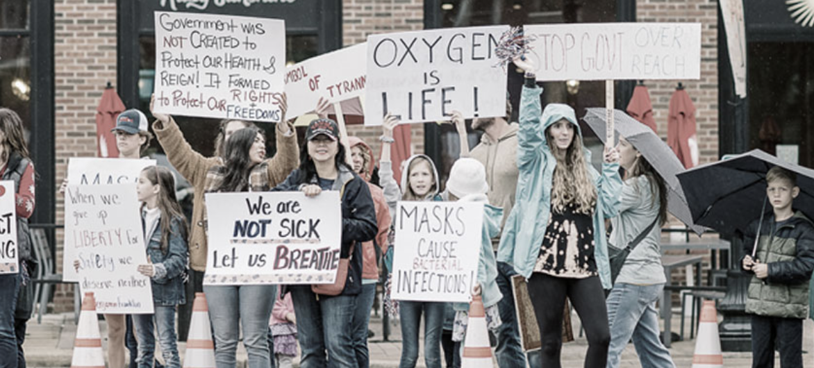 A protest organized by Tennessee Stands in downtown Franklin in November. (Photo: Tennessee Stands, Facebook)