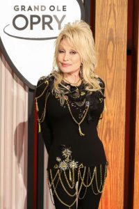 Dolly Parton attends a press conference before a performance celebrating her 50-year anniversary with the Grand Ole Opry at The Grand Ole Opry on October 12, 2019 in Nashville, Tennessee. (Photo by Terry Wyatt/Getty Images)