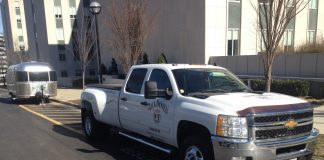 A pickup truck emblazoned with the Jack Daniel's Distillery logo parked in front of the Cordell Hull Legislative Office Building Wednesday. Inside the building, officials with company gave one-fith bottles of Jack to legislators. (Photo: Sam Stockard)