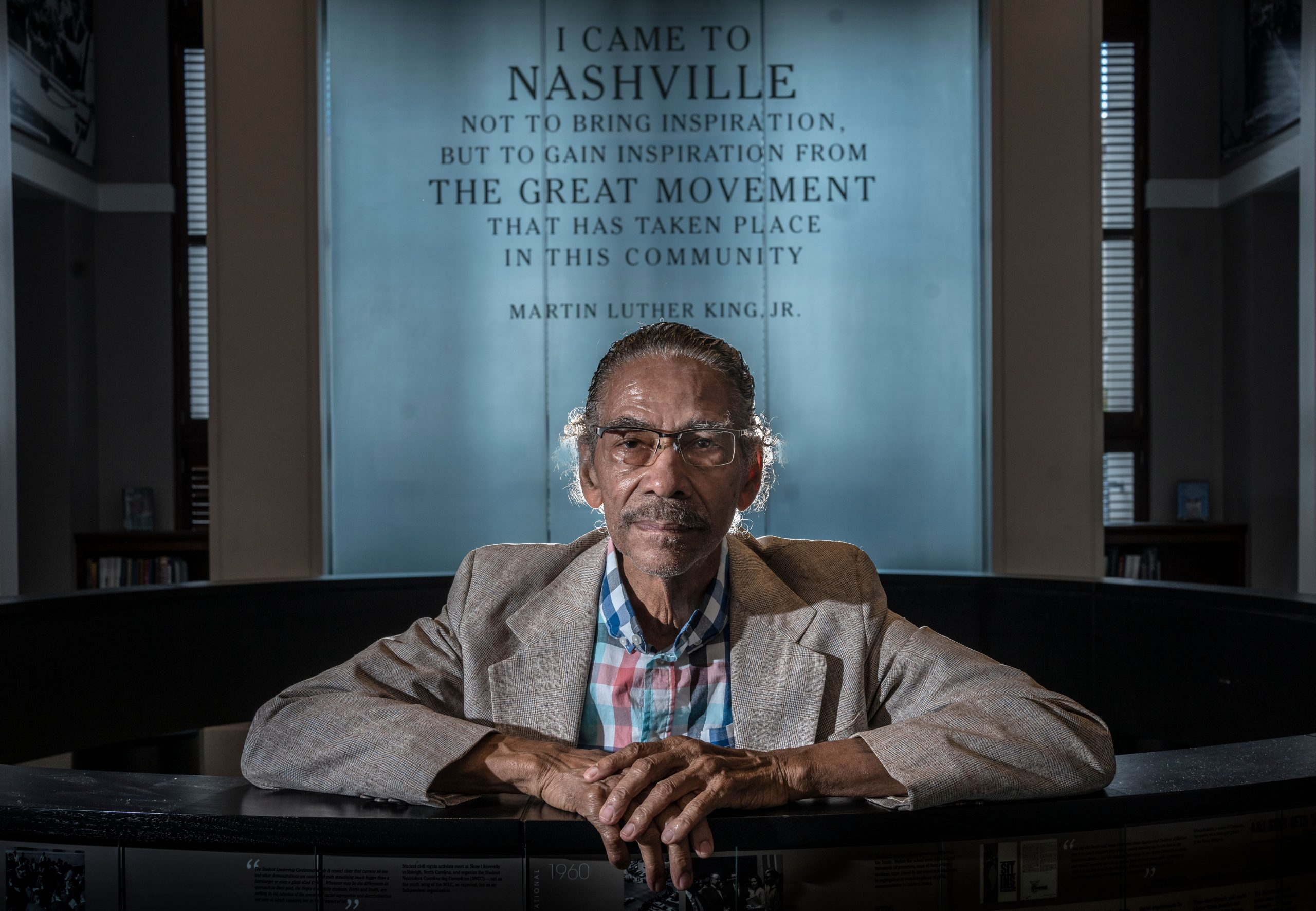 King Hollands in the Nashville Library Civil Rights Room. Hollands was anticipating a 60-year reunion of Freedom Riders in 2020 but COVID-19 prevented the event from happening. (Photo: John Partipilo)