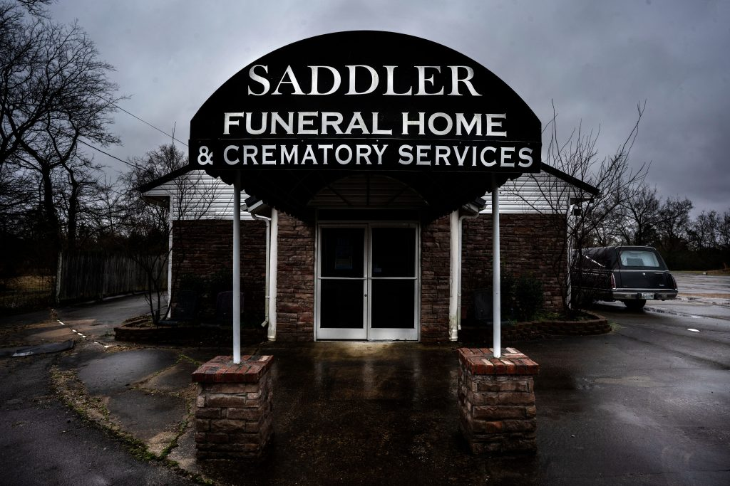 Saddler Funeral Home in Lebanon, where Reid Van Ness stored bodies for months at a time. (Photo: John Partipilo)