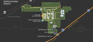 A site plan of the Memphis Megasite. (Photo: Tennessee Department of Economic and Community Development)