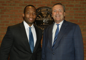 Assistant District Attorney David Jones, left, with District Attorney Glenn Funk at the former's 2016 swearing in. (Photo: District Attorney General Facebook)