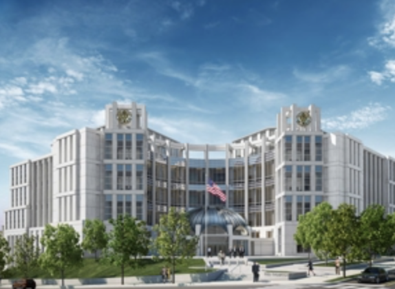 A rendering of the Fred D. Thompson Federal Courthouse in Nashville, slated to be complete in Summer 2021. (Rendering: GSA.gov)