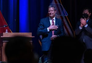 Gov. Bill Lee ending his third State of the State address. (Photo: John Partipilo)