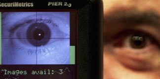Facial recognition and retinal scanning technology. (Photo by Ian Waldie/Getty Images)