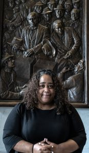Sen. Raumesh Akbari, D-Memphis, photographed at the Tennessee Capitol by John Partipilo on March 18, 2021.