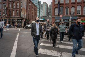 O'Connell walks his district. (Photo: John Partipilo)