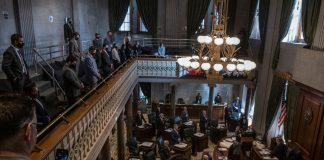 Inside the Tennessee Senate chambers. (Photo: John Partipilo)