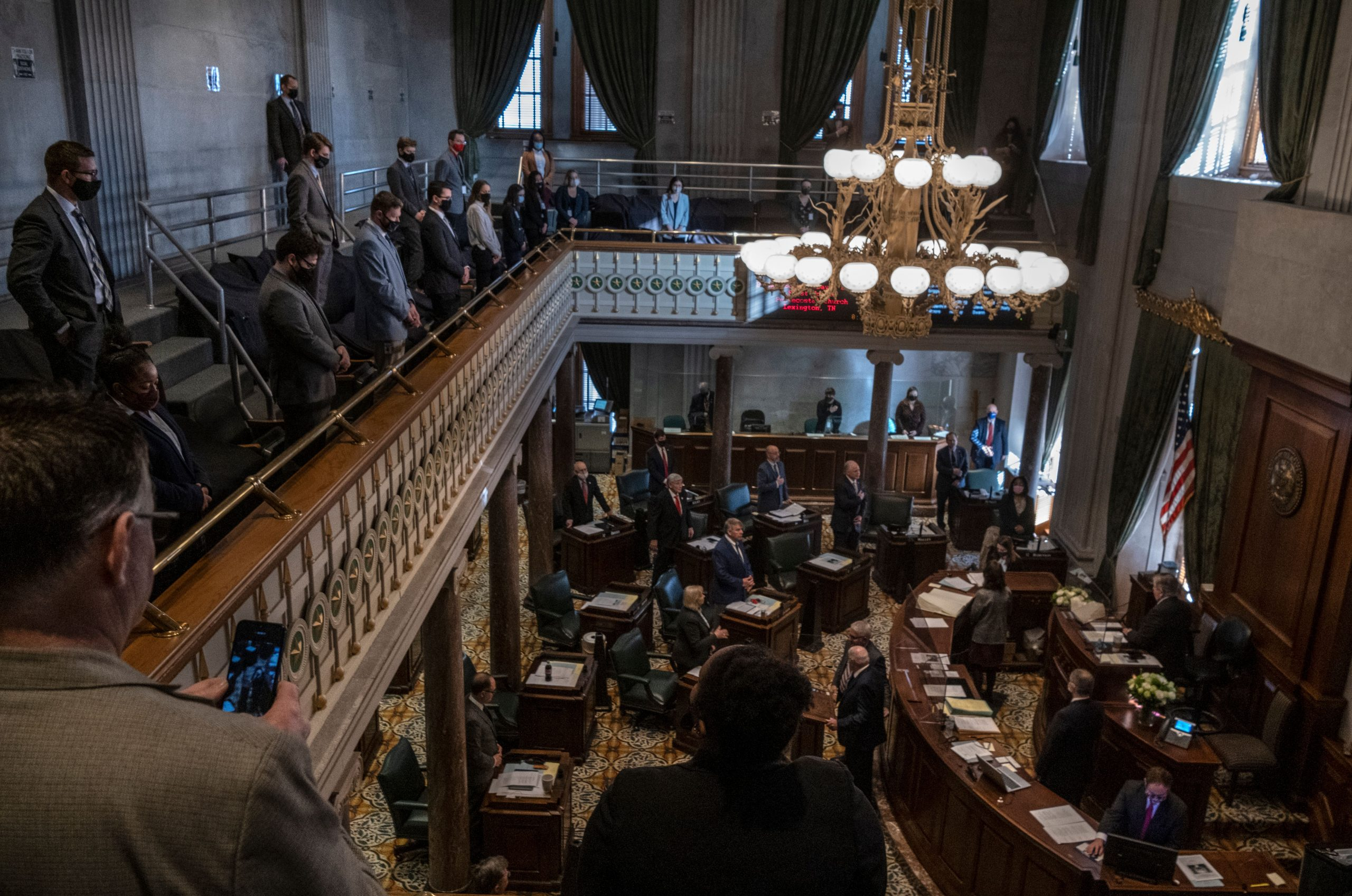 Inside the Tennessee Senate chambers. (Photo: John Partipilo)