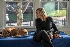 Barry with dogs Hank and Natasha. (Photo: John Partipilo)