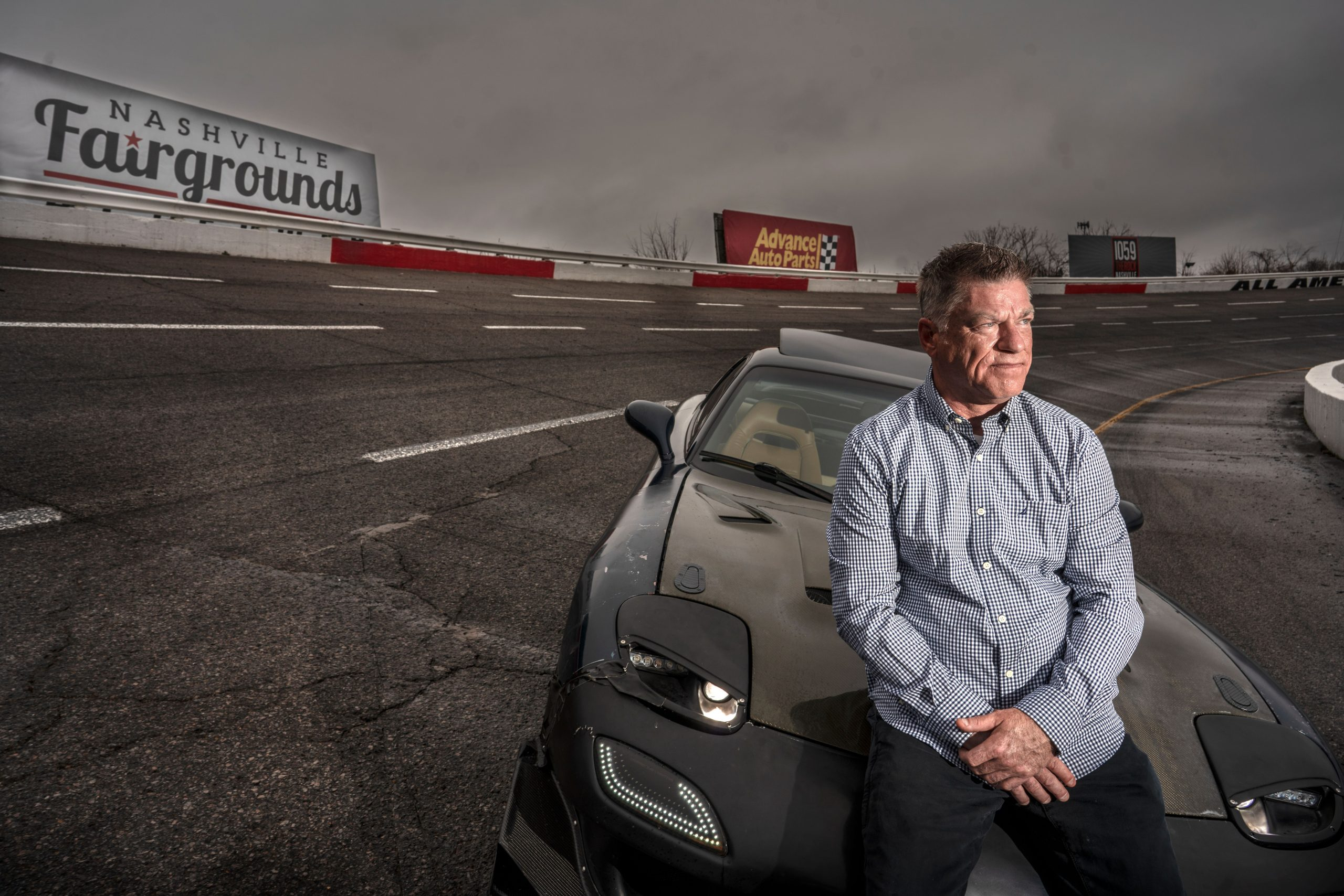 Race car driver Ronnie Campbell at Fairgrounds Speedway, is part of an older generation of Tennessee car and driving enthusiasts. (Photo: John Partipilo)