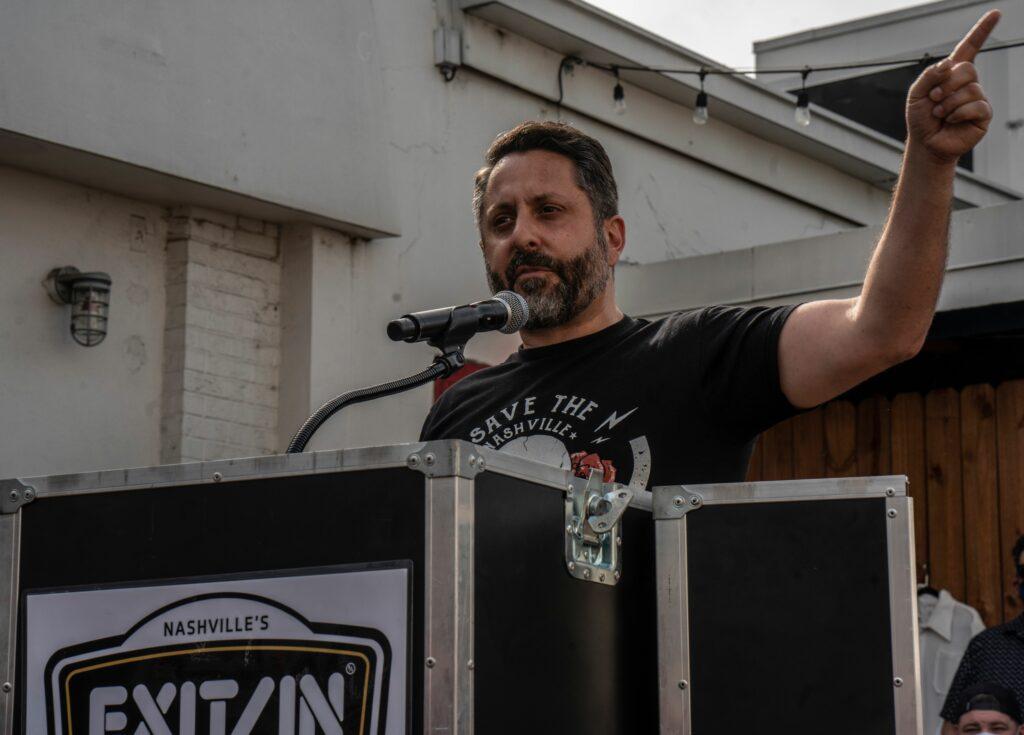 Metro Councilmember Jeff Syracuse speaks. (Photo: John Partipilo)