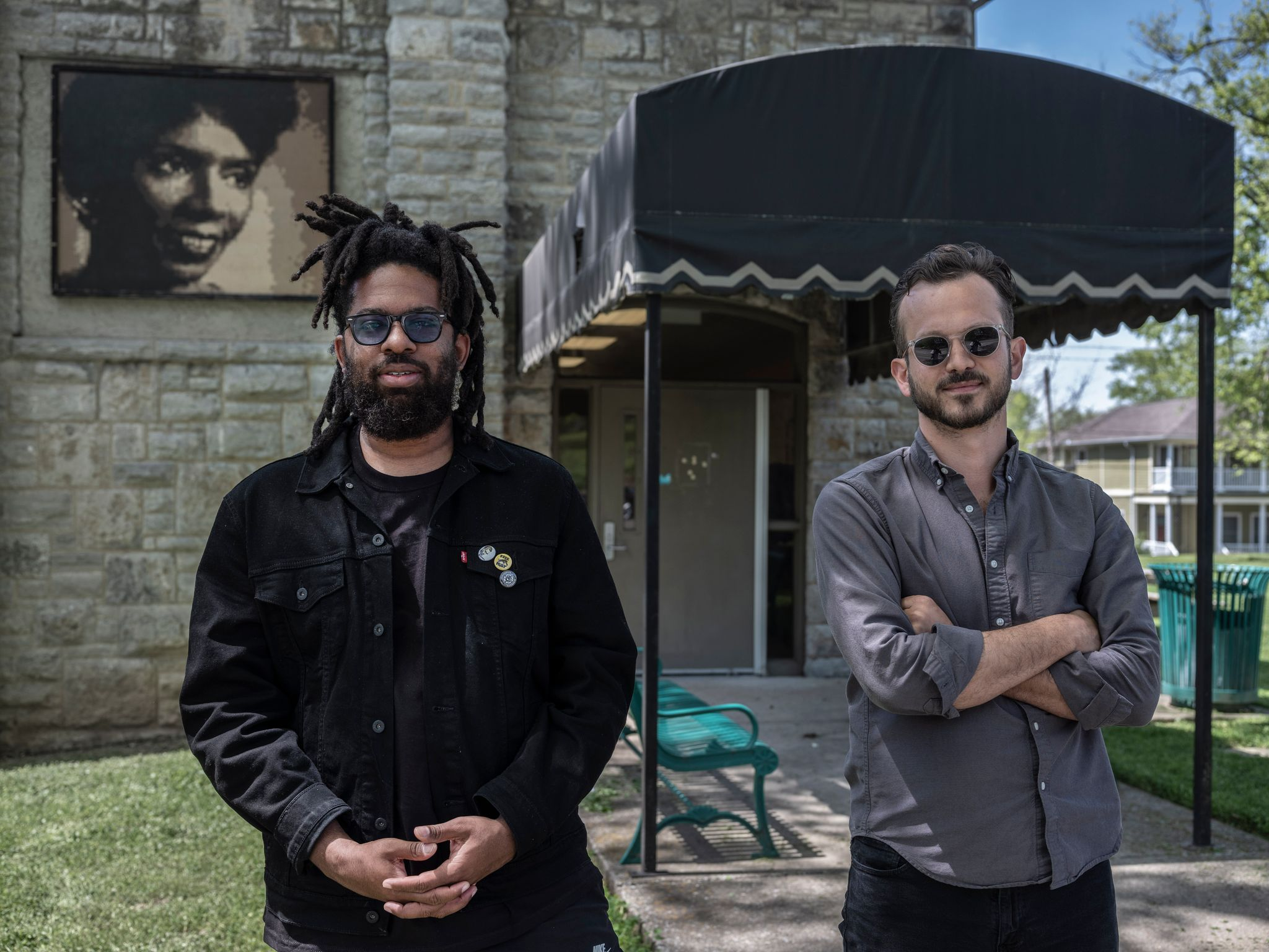 Jamel Campbell-Gooch and Read Ezell of Moving Nashville Forward outside (Photo: John Partipilo)