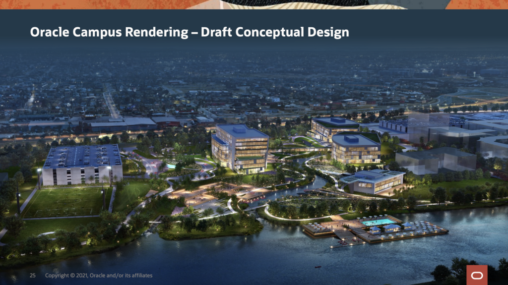 Conceptual rendering of the Oracle campus in Nashville courtesy of Mayor John Cooper's office.
