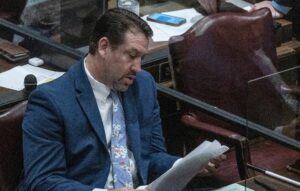 Tennessee Republican House Majority Leader Jeremy Faison has been a frequent critic of unemployed Tennesseans and supported cuts to unemployment insurance, while accepting $79,000 in federal paycheck protection handouts. (Photo: John Partipilo)