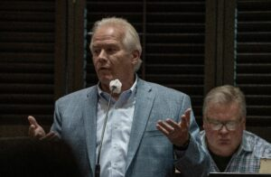 Dan Jameson, vice-president of Republic Services, speaks at a May 12 hearing in Rutherford County. (Photo: John Partipilo)