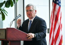 Mayor John Cooper gives his second State of Metro Address on April 30 at the Music City Center. (Photo: Nashville.gov)