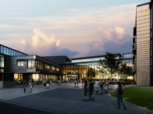 An architectural rendering of the new Hillwood High School. (Metro Nashville Public Schools)