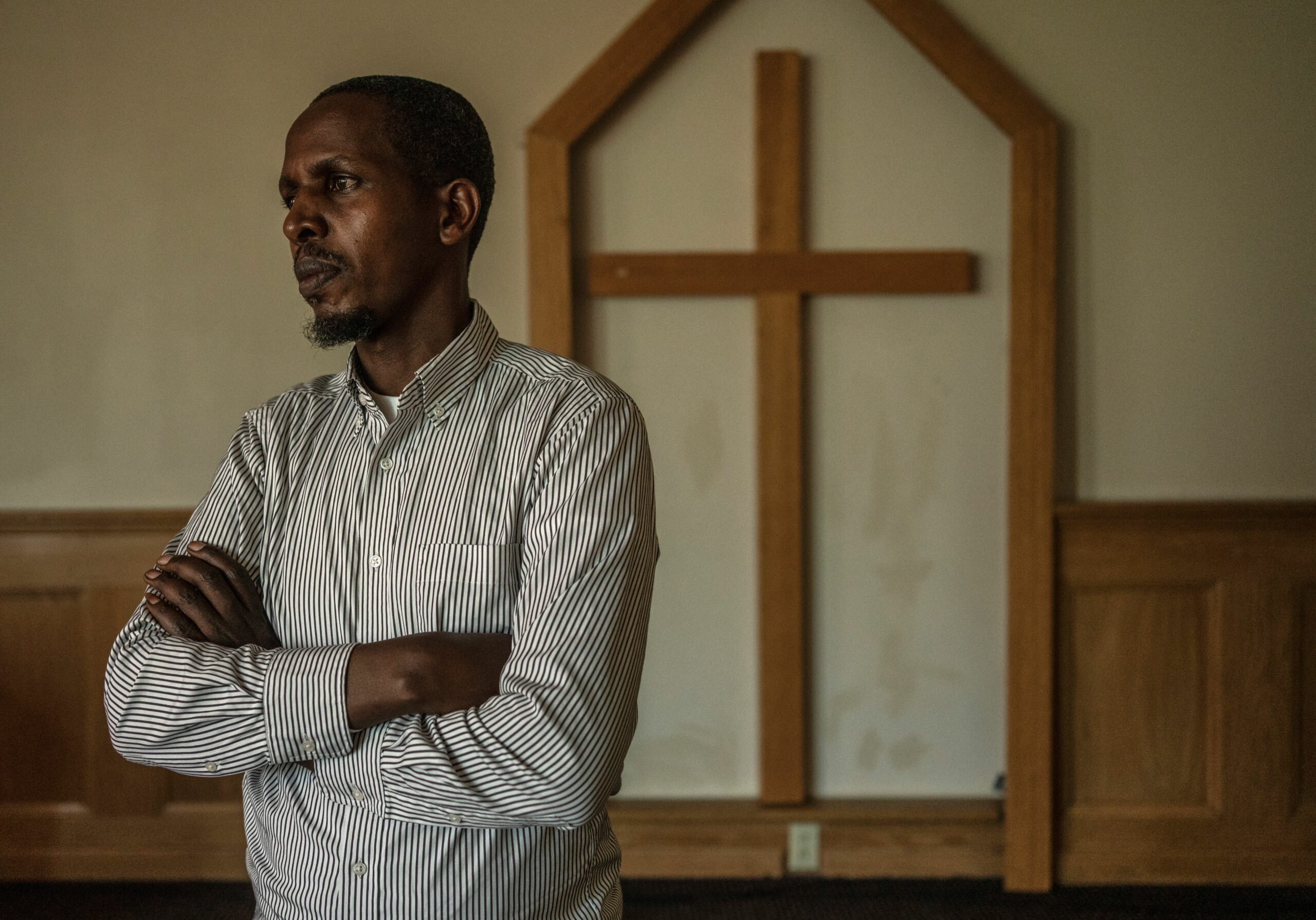 Alex Mutabazi and his family came to Tennessee in 2016 to escape years of strife in the Democratic Republican of Congo. He has founded two Tennessee churches.(Photo: John Partipilo)