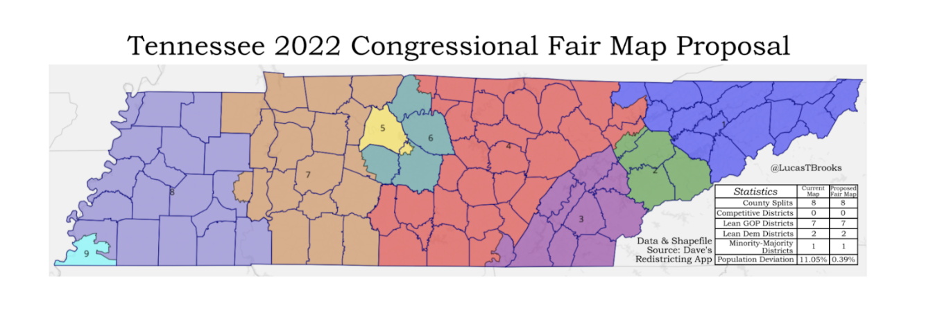 Redistricting in Tennessee: An explanation of how the system works