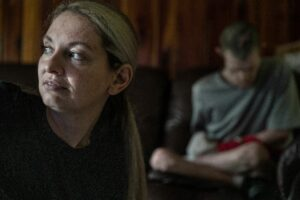"""Drama Bryant, 38, has put her own career on hold to care for her brother. """"He's not that hard to take care of,"""" she says. (Photo: John Partipilo)"""