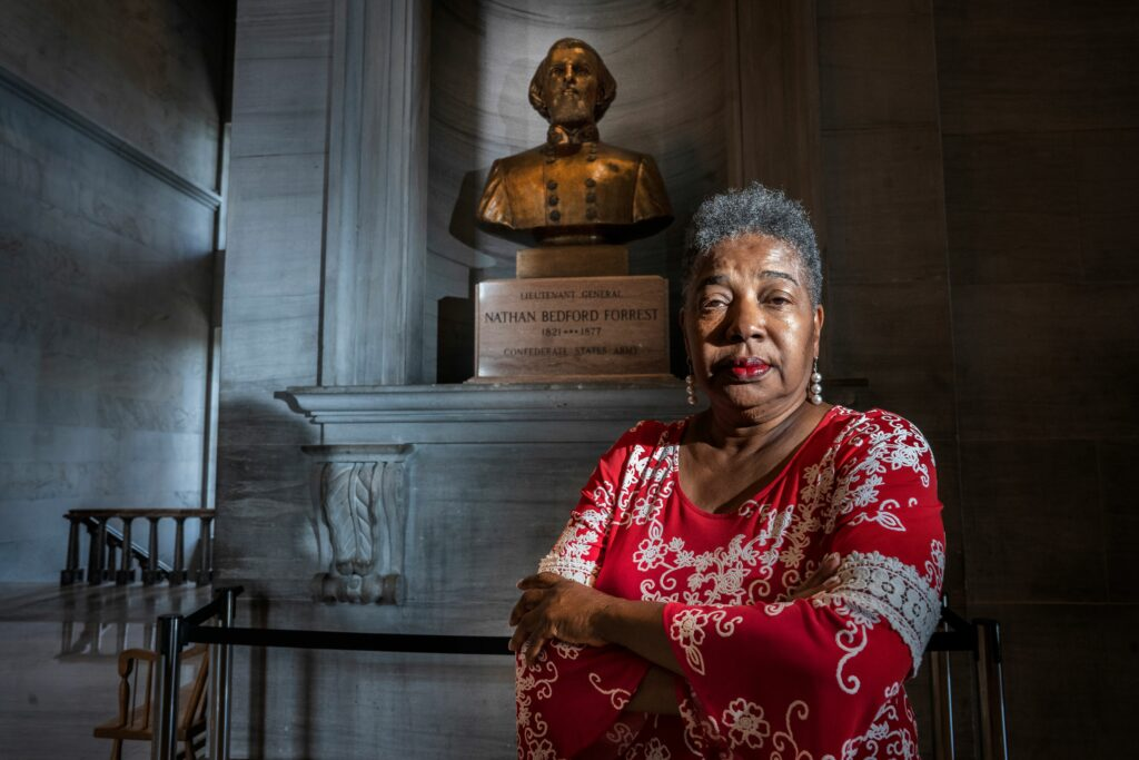 Sen. Brenda Gilmore, D-Nashville, is frustrated by the lack of action in moving a bust of Confederate Gen. Nathan Bedford Forrest from the Tennessee Capitol. (Photo: John Partipilo)