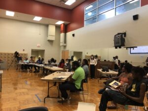 Nashville residents at a Thursday night meeting to learn about the participatory budget process. (Photo: Ian Round)