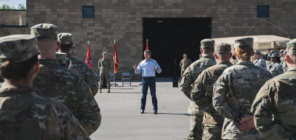 Gov. Bill Lee addressing members of the Tennessee National Guard. (Photo: tn.gov)