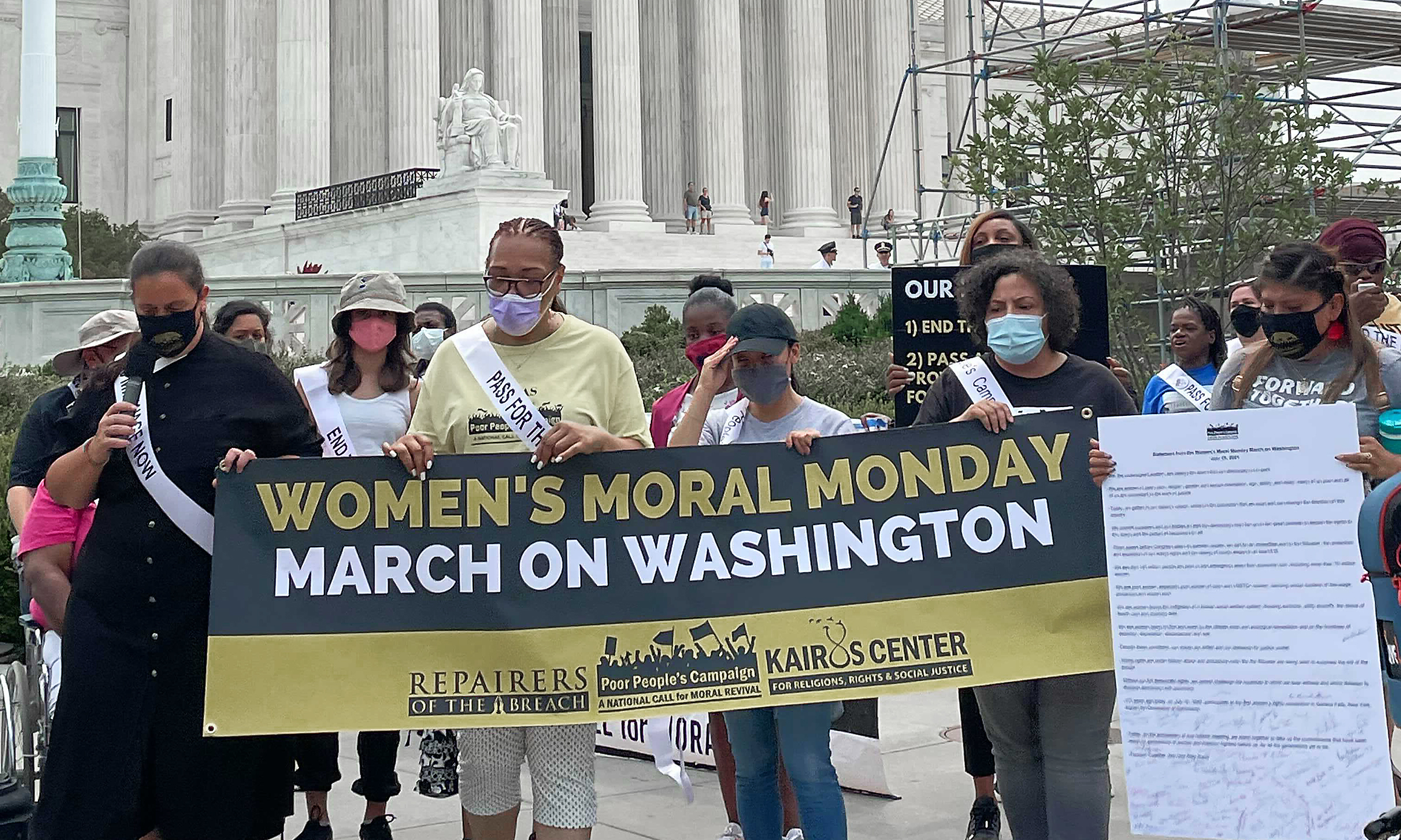 'Our democracy is in peril': Women risk arrest in voting rights protest in D.C.