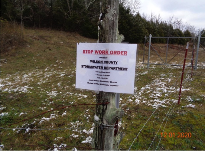 A controversial quarry near farmland in Wilson County was ordered to stop work after beginning blasting without a permit. (Photo: Wilson County)