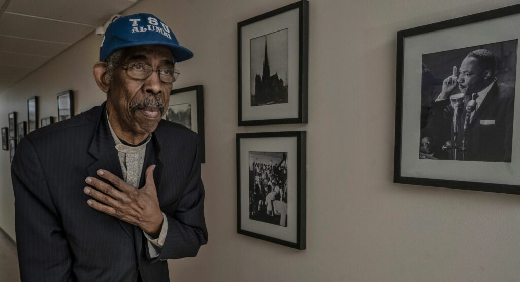 """Ernest """"Rip"""" Patton photographed in the Nashville Public Library, January 2021. (Photo: John Partipilo)"""