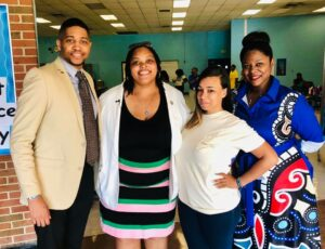 Commissioner Tami Sawyer, second from left, with supporters during her 2019 mayoral race including now-Rep. Torrey Harris, left, and activist Theryn Bond, second from right. (Photo: Tami Sawyer for Mayor)