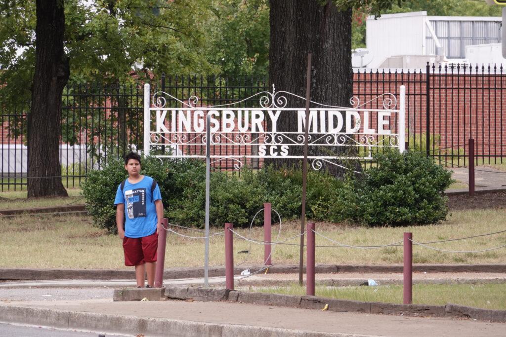 Shelby County Schools in Memphis, Tennessee on September 15, 2021. Kingsbury Middle School in Berclair neighborhood of Memphis. (Photo: Karen Pulfer Focht)