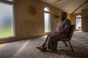 Imam Osama Bahloul of the Islamic Center of Nashville in contemplation. (Photo: John Partipilo)