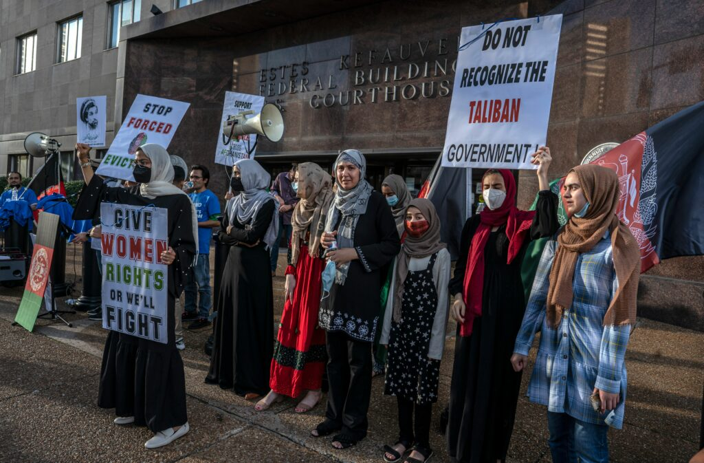Afghan-Americans rallied in Nashville to urge the American government to push for human rights protections in Afghanistan. (Photo: John Partipilo)
